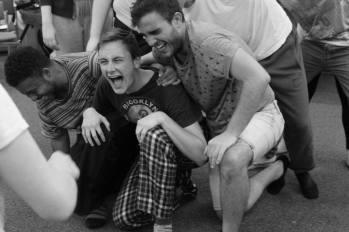 Jack Hawkins, Dan Hodd and Benjamin Turner in rehearsals